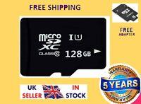 128GB Micro SD Card Class 10 TF Flash Memory Mini SDHC SDXC -FREE ADAPTER New UK