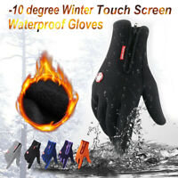 Winter Cycling Glove Anti-slip Waterproof Touch Screen Thermal Ski Gloves