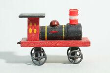 Erzgebirge Zinnräder Spielzeug ca 1930 / Holz Lokomotive  Modellbau oder Diorama