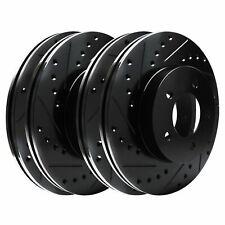 [FULL KIT] BLACK HART DRILL/SLOT  BRAKE ROTORS -Acura RSX 2002 - 2006 Type-S