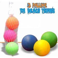 ds Set 3 Palline Colorate Palle Per Gioco Beach Tennis Racchettoni dfh