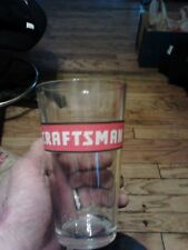 Drinking Glass With Craftsman Logo. Perfect Shape. 12 Oz.