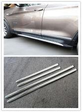 4pcs Chrome Side Door Body Molding Streamer Cover Trim For BMW X3 F25 2011-2015