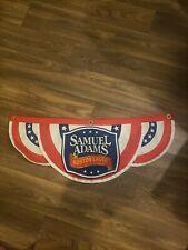 Samuel Adams Boston Lager Beer Sign Flag banner Bunting Euc