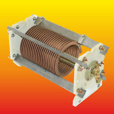 22 TURNS 29.5 uH VARIOMETER VARIABLE INDUCTANCE COIL COPPER WIRE CERAMIC CORPUS