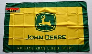 JD Tractor Flag 3x5 ft Banner Nothing Runs Like Yellow