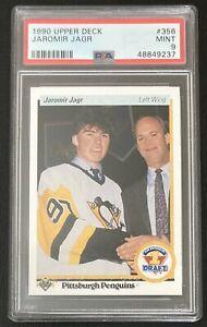 1990 Upper Deck Jaromir Jagr #356 Rookie Card RC PSA 9