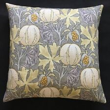 "GP & J Baker Fabric Cushion Cover PUMPKINS - 18"" Grey/Ochre"