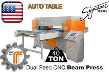 NEW!! CJRTec 40 Ton Auto Table Dual Feed CNC Beam Press
