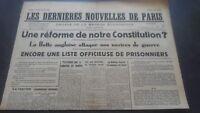 Periodico Los más Reciente Nuevas De París N º 16 Viernes 5 Julio 1940 ABE