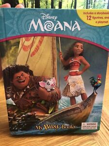 Disney Moana My Busy Book 10 Figurines Playmat Story Activity Kids Play Figures
