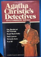 AGATHA CHRISTIE'S DETECTIVES Five Complete Novels (1982) Avenel HC