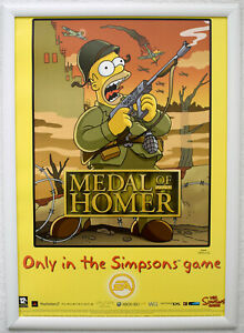 The Simpsons Game RARE PS2 Wii 42cm x 59cm Promotional Poster #4