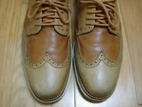 Men's Shoes COLE HAAN GRAND OS Lace Up Oxfords Sz 10 M Brown Leather TWO TONE