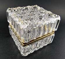VINTAGE WESTMINSTER HAND CUT FRENCH  CRYSTAL GLASS  TRINKET BOX W GERMANY (E29)
