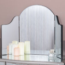 Triple Dressing Table Mirror Modern Chic Bedroom Hallway Home Freestanding Glass