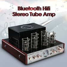 SUNBUCK Bluetooth Hifi Stereo Hybrid Tube Power Amplifier AMP 30W *2 3A USB AUX