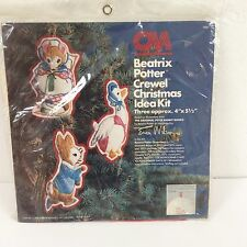 Vtg Beatrix Potter 7881 Embroidery Crewel Christmas Ornaments Kit Erica Wilson
