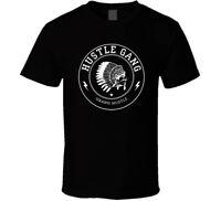 Hustle gang new logo shirt black white tshirt men's free shipping