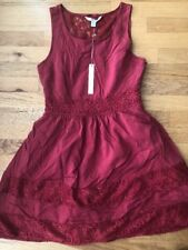NEW Lauren Conrad LC American Beauty Dress Size 8 Red Lace Back Fit And Flare