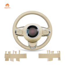 MEWANT Custom Artificial Leather Steering Wheel Cover for Fiat 500 500C