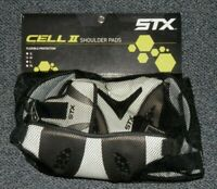 STX CELL II LACROSSE SHOULDER PADS ~ SIZE M Youth 9-13 Flexible Protection NEW