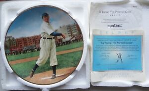 Ltd.Edit.CY YOUNG THE PERFECT GAME plate DELPHI w/ COA & NUMBERED-MIB-4TH PLATE