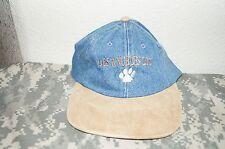Los Angeles Zoo Base Ball / Golf Hat Cap Blue Denim Material New Adjustable