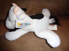 "Cow Kuddle Me Toy 6"" Black White laying Bean Bag Pet 2004 Floppy stuffed plush"