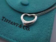 """Tiffany & Co. Silver Elsa Peretti Small Open Heart Necklace 16"""""""