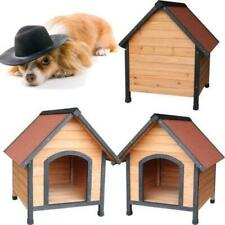 Dh-3M Dog House Pet Outdoor Bed Wood Shelter Sleep Weather Kennel Play Activy