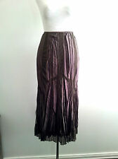 Simply Divine! Verge size 10 chocolate crinkle skirt in excellent condition