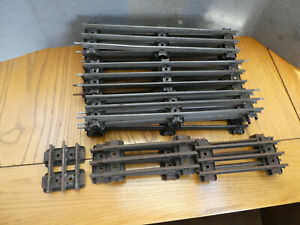 O gauge Hornby 3 Rail Electric straight track x 15  good condition.