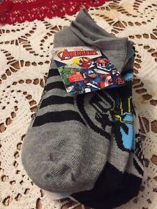 Socks For Boy, 6 Pair, Size L 3-9 Marvel Avengers Brand
