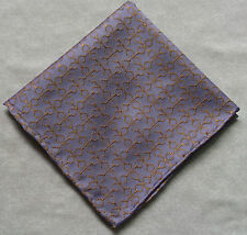 Hankie SILK Pocket Square Handkerchief MENS Hanky HORSE STIRRUP PURPLE