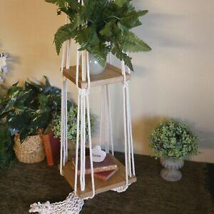Large Macramé Plant Hanging Shelf, Bohemian Décor, Nursery Décor