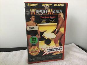 WWF WWE Wrestling Wrestlemania 3 VHS Great Price See Our huge Range!