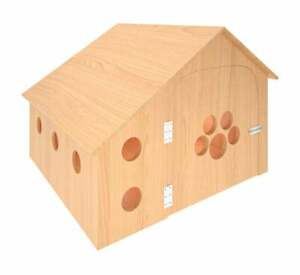 Dog Kennel Raised Wooden Dogs Shelter Pet House Cage