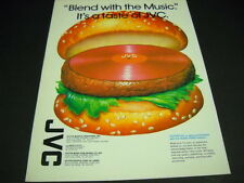 Vinyl Hamburger clever 1982 music business Promo Poster Ad from Jvc mint cond