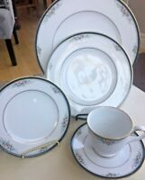 NEW Noritake LANDON 5 Pc. PLACE SETTING(S) Dinner Salad Bread Plate Cup Saucer