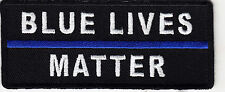 """BLUE LIVES MATTER""- THIN BLUE LINE-IRON ON PATCH/SWAT/ POLICE,LAW ENFORCEMENT"