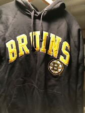BOSTON BRUINS EMBROIDERED G-III BLACK PULLOVER HOODED SWEATSHIRT SMALL NEW NWT