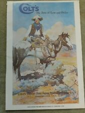 REPRODUCTION POSTER COLT FIREARMS CO THE ARM OF LAW AND ORDER