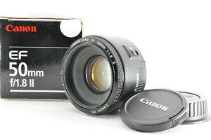 """ Near Mint w/ Box "" Canon EF 50mm F1.8 II AF Standard Prime Lens From Japan TN"
