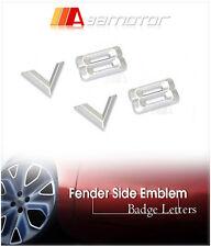 2x V8 Chrome Side Emblem Badge Decal Letter Sticker 20mm Hight 2 PCS for BMW
