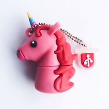 1 New Cute Novelty Pink Unicorn, 4GB USB Flash Drive Memory Stick