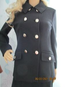 WOMEN MARKS AND SPENCER CLASSIC JACKET BLACK SIZE 10 NEW