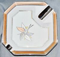 Zigarren Ascher AK Kaiser, Bad Staffelstein, Brioso,Kupfer Platin floral,18,5 cm