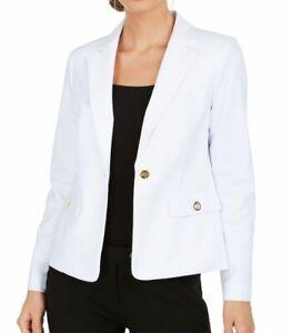 Calvin Klein Women's Jacket Snow White Size 16 Notch Collar 1 Button $134- #001