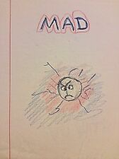 "BEATRICE WOOD  ""MAD""  Original color pencil Drawing on Letterhead  BEATRICE WOOD"